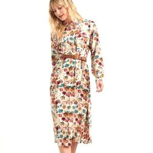 Lucky Brand Floral Crepe Utility Shirt Dress